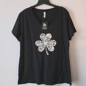 LA Pop Art Short Sleeve Black T-shirt-NWT